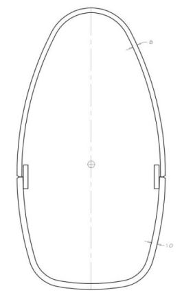 Nirvana mast panel (bended plate) layout example